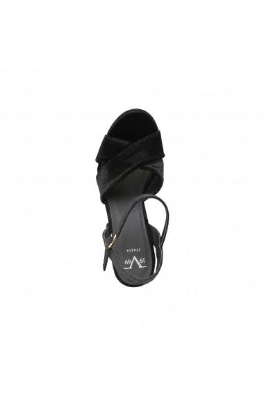 Sandale cu toc Versace 1969 LOLIE NERO negru