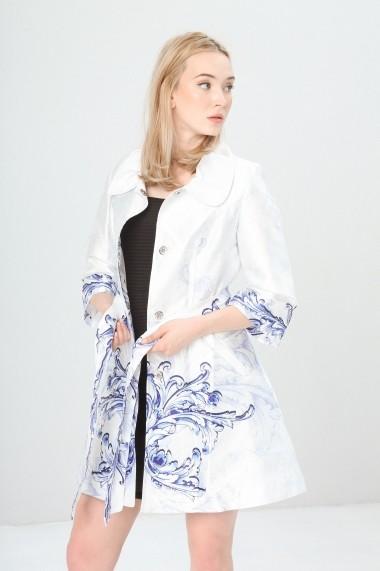 Trenci Fontana 2.0 APOLLINA_SAXBLUE alb, albastru