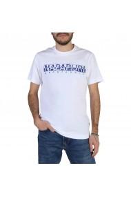 Tricou Napapijri SOLANOS_NP0A4E390021 Alb
