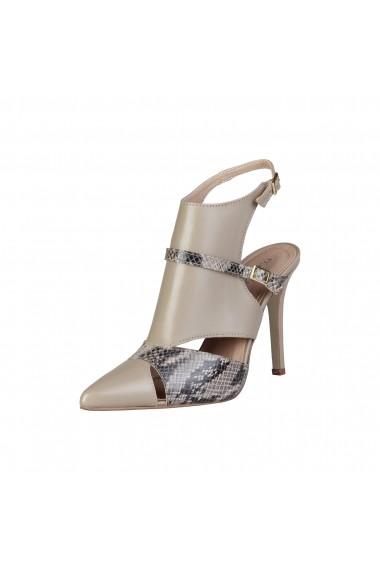 Pantofi cu toc Pierre Cardin LAETITIA TAUPE gri-bej