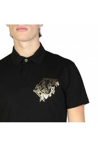 Tricou Versace Jeans B3GSB7P0_36610_899 Negru