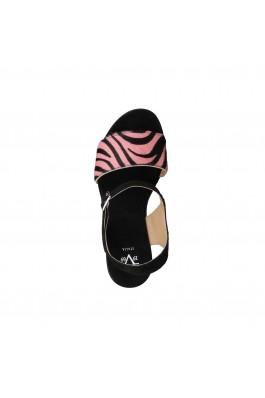 Sandale cu toc V 1969 KATE ROSA NERO roz