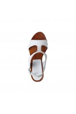 Sandale cu toc V 1969 SOFIA BIANCO alb