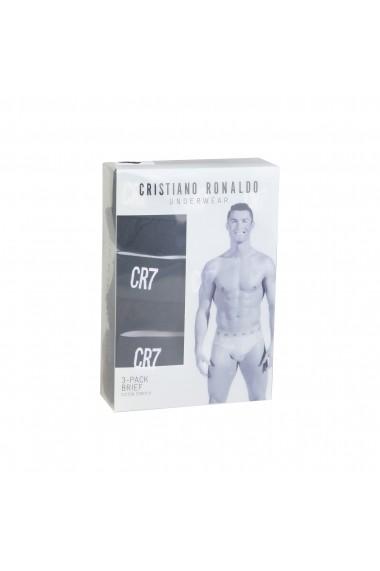 Set slipuri CR7 Cristiano Ronaldo 8100-6610-900_TRIPACK_BLACK negru