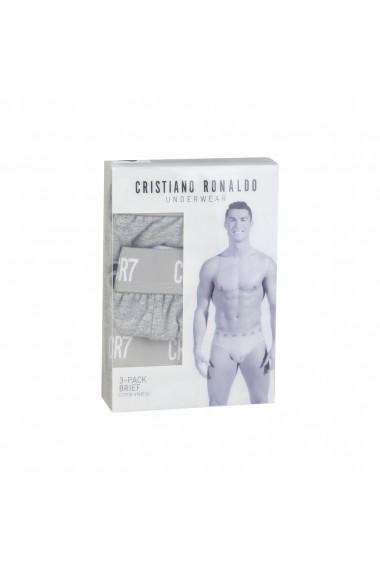 Set slipuri CR7 Cristiano Ronaldo 8100-6610-700_TRIPACK_GREY gri