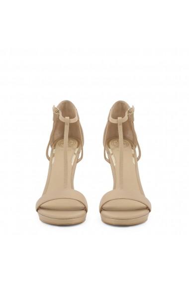 Sandale cu toc Guess FL6TEU_LEA03_TECRU_NATURAL