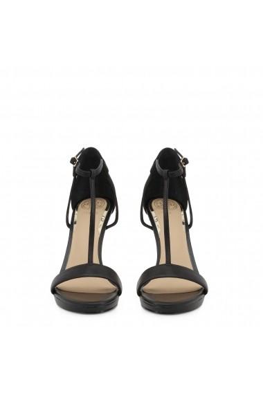 Sandale cu toc Guess FL6TEU_LEA03_TECRU_BLACK