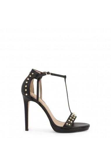 Sandale cu toc Guess FL6TEN_LEA03_TEDAN_BLACK