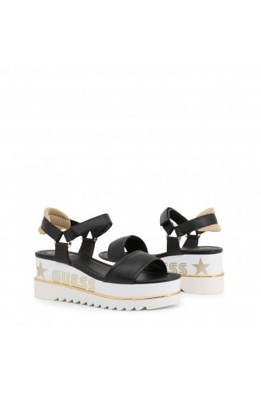 Sandale cu toc Guess FL6LEA_ELE04_LESSA_BLACK