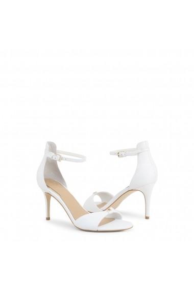 Sandale cu toc Guess FL6ABI_LEA03_ABIRI_WHITE