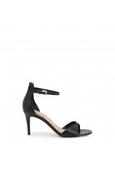Sandale cu toc Guess FL6ABI_LEA03_ABIRI_BLACK