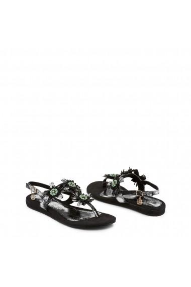 Sandale plate Laura Biagiotti 717 NABUK BLACK