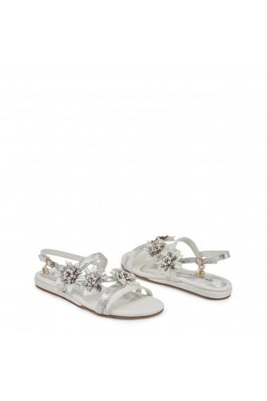 Sandale plate Laura Biagiotti 716 NABUK WHITE