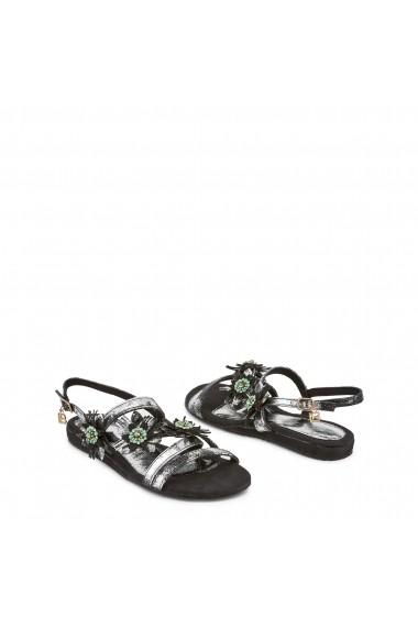 Sandale plate Laura Biagiotti 716 NABUK BLACK