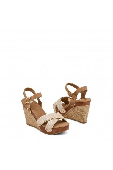Sandale cu toc Laura Biagiotti 566_SNAKE_SAND - els