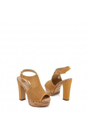 Sandale cu toc Laura Biagiotti 614_NABUK_YELLOW