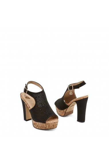 Sandale cu toc Laura Biagiotti 614_NABUK_BLACK