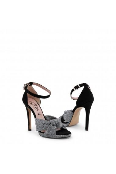 Sandale cu toc Paris Hilton 8607_ARGENTO-NERO Argintiu