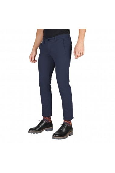 Pantaloni Oxford University OXFORD PANT-REGULAR-BLU albastru