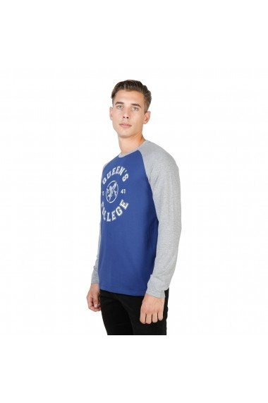 Bluza Oxford University QUEENS-RAGLAN-ML-NAVY-GREY bleumarin