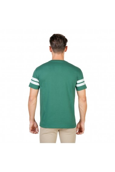 Tricou Oxford University MAGDALEN-STRIPED-MM-GREEN verde