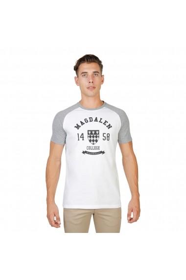 Tricou Oxford University MAGDALEN-RAGLAN-MM-GREY gri