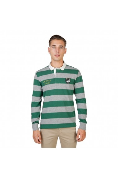 Bluza Polo Oxford University MAGDALEN-RUGBY-ML-GREEN verde