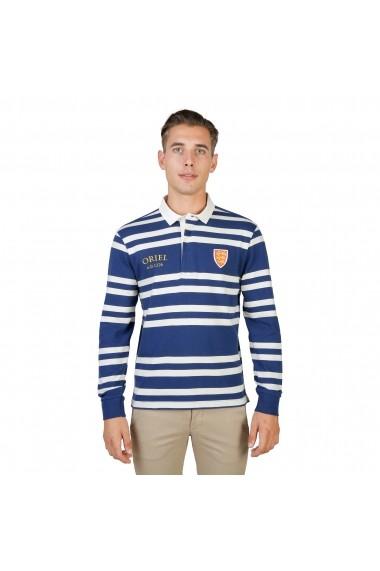 Bluza Polo Oxford University ORIEL-RUGBY-ML-NAVY bleumarin