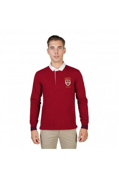 Bluza Polo Oxford University QUEENS-POLO-ML-RED rosu