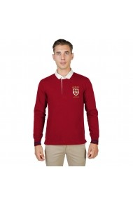 Bluza Polo Oxford University QUEENS-POLO-ML-RED rosu