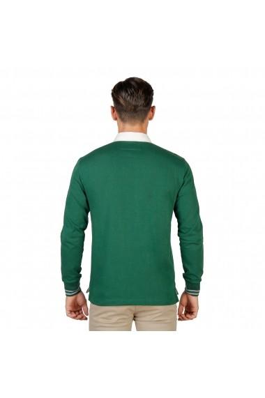 Bluza Polo Oxford University MAGDALEN-POLO-ML-GREEN verde