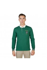 Bluza Polo Oxford University MAGDALEN-POLO-ML-GREEN verde