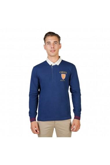 Bluza Polo Oxford University ORIEL-POLO-ML-NAVY bleumarin