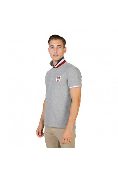 Tricou Polo Oxford University QUEENS-POLO-MM-GREY gri