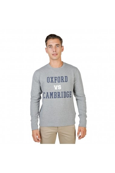 Bluza Oxford University OXFORD-FLEECE-CREWNECK-GREY gri