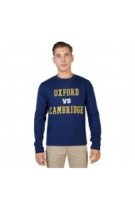 Pulover Oxford University OXFORD-FLEECE-CREWNECK-NAVY bleumarin