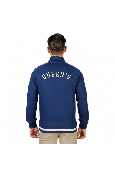 Jacheta sport Oxford University QUEENS-FULLZIP-NAVY bleumarin