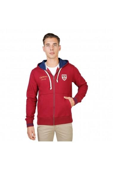 Bluza sport Oxford University QUEENS-HOODIE-RED rosu