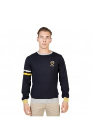 Pulover Oxford University OXFORD_TRICOT-CREWNECK-NAVY bleumarin