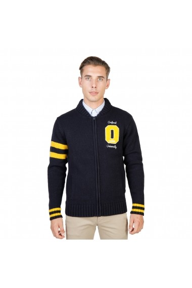 Pulover Oxford University OXFORD_TRICOT-TEDDY-NAVY bleumarin