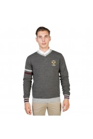Pulover Oxford University OXFORD_TRICOT-VNECK-GREY gri