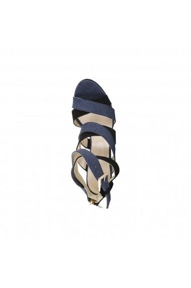 Sandale cu toc Trussardi 79S003 49 DENIM NERO negru