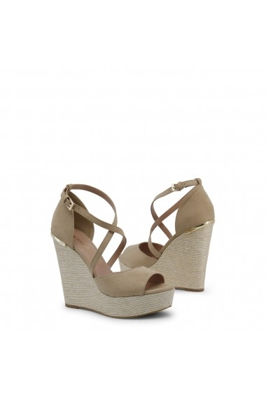 Sandale cu toc Blu Byblos COVERED_682328_BEIGE Rosu