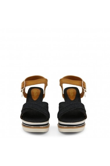 Sandale cu toc Enrico Coveri C1000_CANVAS_BLACK