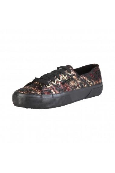 Pantofi sport Superga S009ZL0 2750 904 BLACKGOLD print