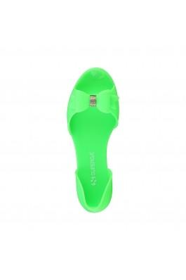 Sandale plate SUPERGA S42O977 VERDE verde