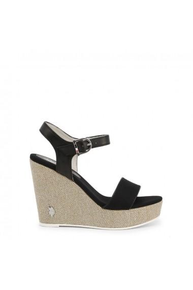 Sandale cu toc U.S. Polo Assn. AYLIN4204S0_CY1_BLK
