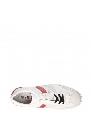 Pantofi sport Bikkembergs RIS-ER842-LOW_WHITE-RED Alb
