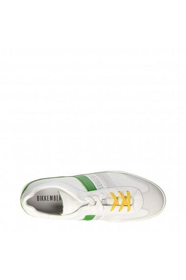 Pantofi sport Bikkembergs RIS-ER842-LOW_WHITE-GREEN Alb