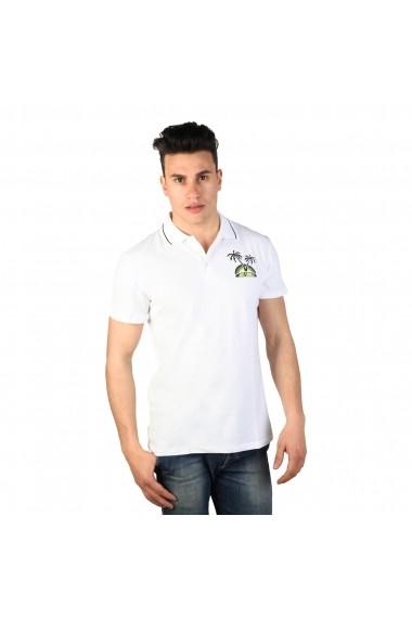 Tricou Polo Just Cavalli 15GRMCF47 WHITE-02 alb